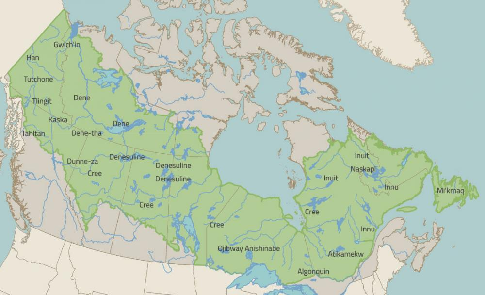 Map Of Canada With City Names.Indigenous Communities In Canada S Boreal Forest Boreal Songbird